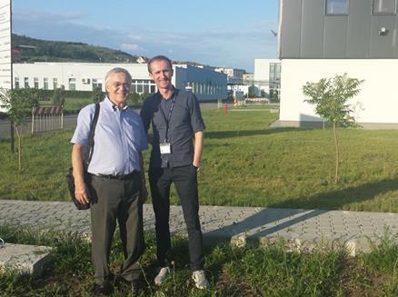 Florin Radoi of Terapia and Steven Robinson from Caleva at Terpia site in Romania