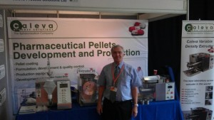 dr-steve-robinson-on-the-caleva-stand-at-the-academy-of-pharmaceutical-sciences-exhibition-2012