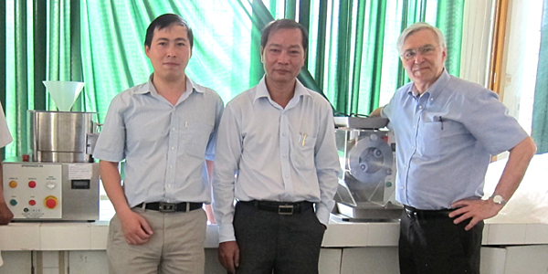 Dr Le Hau with his Caleva equipment placed at the University of Medicine and Pharmacy  in Ho Chi Minh City