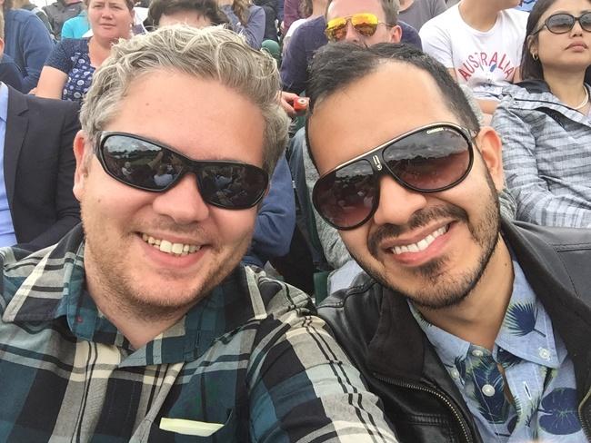 Aaron Quinn and Alejandro Lopez enjoying the sunshine at Wimbledon